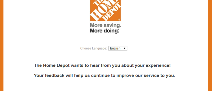 Home Depot Survey – Take Home Depot® Survey – Win $5,000