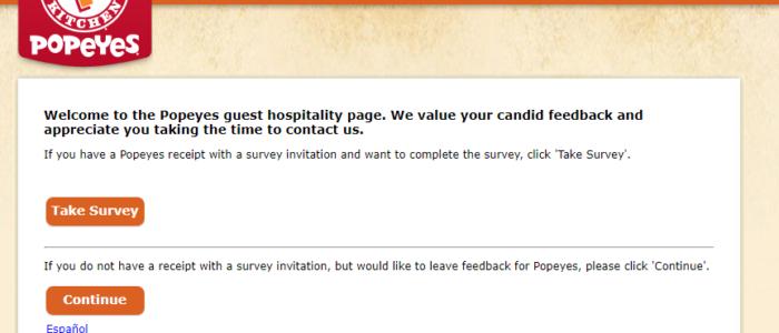 Tellpopeyes Survey Win $1,000 Cash Prize @ www.TellPopeyes.com