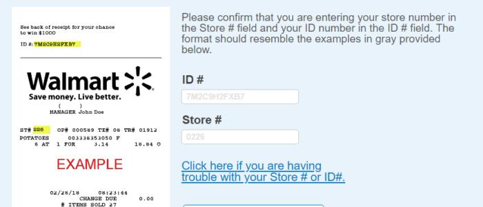 Walmart Survey – win $1000 Gift Card @ Survey.Walmart.com