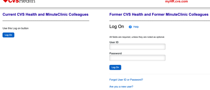 Myhr CVS Login – CVS Employee Portal at myhr.cvs.com