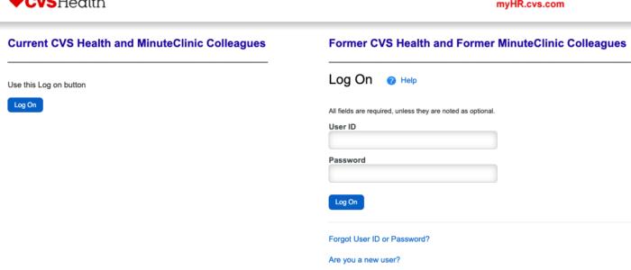 Myhr CVS Login – CVS Employee Portal at myhr.cvs.com