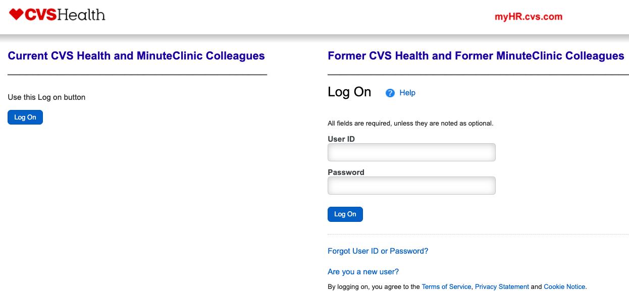 Myhr CVS Login – CVS Employee Portal at myhr cvs com